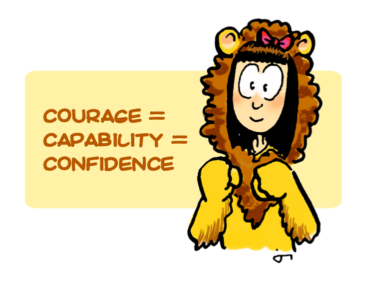 Courage = Capability = Confidence