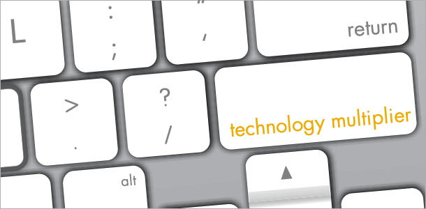 Technology Multiplier keyboard.