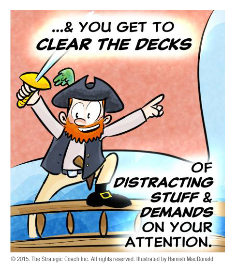 … & you get to clear the decks of distracting stuff & demands on your attention.