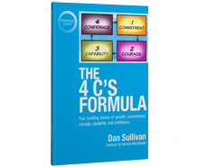 "Buy the book ""The 4 C's Formula."" now."