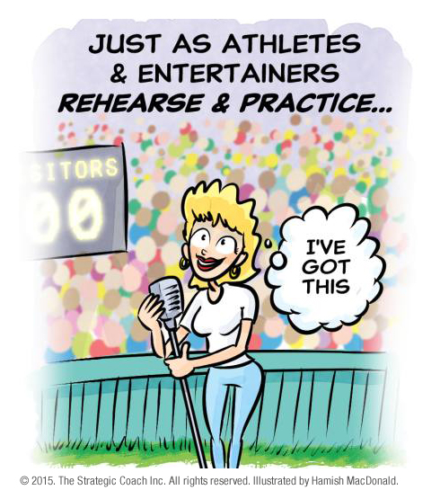 Just as athletes & entertainers rehearse & practice …
