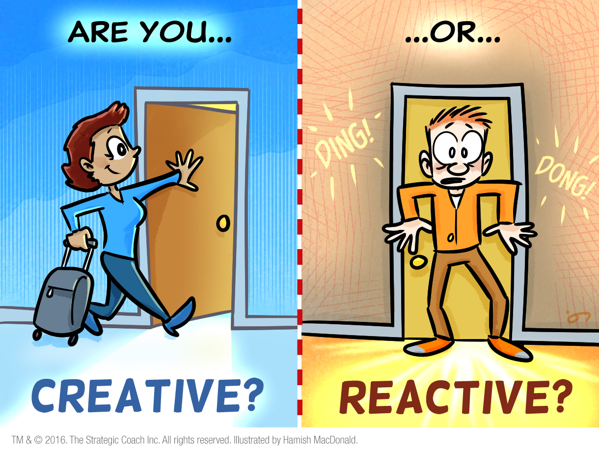 Are you creative? Or reactive?