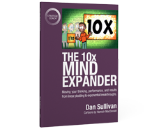 "Buy the book ""The 10x Mind Expander"" now."